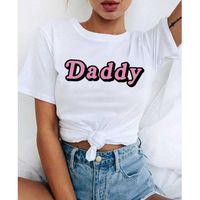 Harajuku Papá camiseta Mujer Satanás es mi azúcar Papá Estética Kawaii Shirt Ullzang 90s Tshirt Fashion Top Tizes Mujer X0527