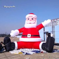 Outdoor Inflatable Santa Balloon 5m Height Giant Red Blow Up Father Christmas Replica For Xmas Decoration