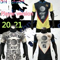 Versão do jogador G. dos Santos 20 21 Home Terceiro Away América Amarelo Jersey Soccer R.Sambuza P.Aguilar 2020 2021 Longe Mexico Club Futebol Camisa Mulheres