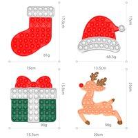 SEA SHIP XD0929 9 Styles Kids Christmas Fidget Toys Party Gifts Bubble Puzzle Push Pop Popping Board Game Xmas Hat Stocking Elk Shape Poo-its TIKTOK Toy Xmas10
