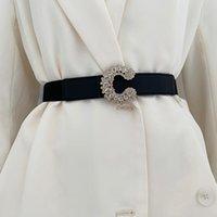 Cinturones de moda retro mujeres elástico cinturón metal amor hebilla cintura correa lujo diseñador decoración con falda corsé vestido abrigo cintura
