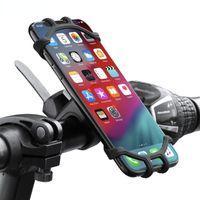 Teléfono celular soportes Soporte para bicicletas Bicicleta Móvil móvil Motocicleta Suporte Celular para GPS a prueba de choques MTB Houder Fie