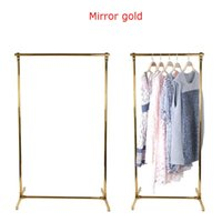 Boutique Store Clothes Display Racks Stainless Steel Hanger Frame Floor Stand Garment Shop Show Window Clothing Display Rack