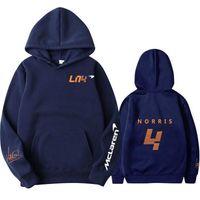 Sweatshirts F1 Mclaren Team Racing Fans Hoodies Autumn Winter Formula One Racer Lando Norris Hoodie Men women Oversized K7hz