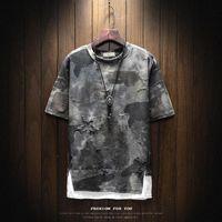 Men's T-Shirts Brand Clothing Spring Men Design Tshirt Short Sleeve Tactical Camouflage T-shirt Masculina Military Broken T Shirt