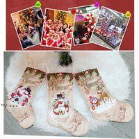 عيد الميلاد الحلي الحلوى هدية أكياس عيد الميلاد ثلج الكرتون الجوارب عيد الميلاد قلادة شجرة سانتي كلوز الاحتفال حزب اللوازم NHA7735