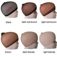 En Hızlı Kargo Nunify 6 Renkler Bej Kahverengi Siyah Naylon Peruk Kadınlar Için Kapaklar 2 adet Stocking Peruk Kapakları Sıkı Naylon Kapat Sonu Peruk Kap