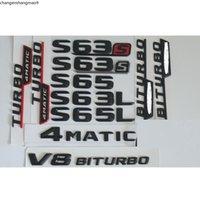 3D مات أسود الجذع رقم خطابات شارة شعار الشعارات ملصق لمرسيدس بنز S63 AMG S400L S500L S500 S600L V8 V12 Biturbo 4matic
