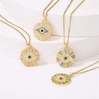 Кулон Ожерелья 2021 Мода Позолоченное Зеленое ожерелье для Женщин + Кубический Цирконий Женский Грузные Украшения Подарок