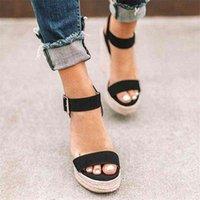 Cootelili Woman Sandal Sandalias 라운드 발가락 하이힐 패션 버클 여성 신발 검은 카키 플러스 사이즈 41 42 43 210619 JTD216Q5