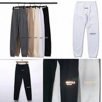 Sonbahar Kış Erkek Pantolon Yansıtıcı 3 M Tanrı Korkusu Essentials Mektuplar Baskı Pantolon Rahat Sis Sweatpants Erkek Kadın