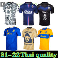 Novo 21 22 22 Liga MX Club América Futebol Jerseys Leon Terceiro 2021 2022 Camisetas Tijuana Tigres Unam Chivas Cruz Azul 3ª Camisas de futebol S-XXL