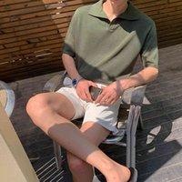 T-shirts Hommes IEFB / HOMME, Chemise à manches courtes avec Tam Col, Mode coréenne, Comer, 9Y2255 SXeh