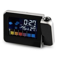 LED Color Screen Alarm Clock Thermometer Table Time And Date Weather Forecast Display Projector Calender USB Charger Table Clock