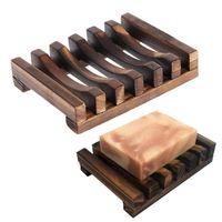 Carbonation natural Moho Jabón de madera Baño Baño Drenaje Soporte de jabón Estuche de jabón Plato Accesorios de baño Regalo Envío gratis