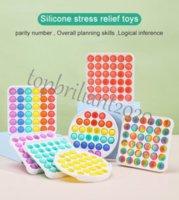 DHL kargo fidget oyuncaklar dekompresyon itme renkli abs duyusal oyuncaklar gökkuşağı kabarcık anksiyete stres kabartma şeyler çocuklar için