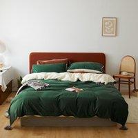 Biancheria da letto di lusso Corduroy Cashmere AB Laterale Cover Duvet Solid Caldo morbido Verde Green Yellow Legge Italian BedClothes Queen Twin Home Textile
