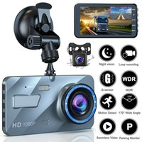 """4 """"2.5D HD 1080P DUAL LENTE CAR DVR grabador de video Dash Cam CAM SMART G-SENSOR Cámara trasera 170 Grados de gran angular Ultra Resolución"""