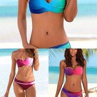 YICN Yeni 2019 Bikini Kadın Mayo Kadın Mayo Retro Seksi Yaz Şınav Bikini Set Plaj Yüzmek Giyim Mayo Biquini L0222