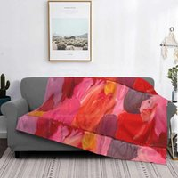 Blankets Untitled Shaggy Throw Soft Blanket Sofa Bed Travel Love Gifts Abstract Flower Motif