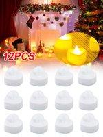 12pcs Candles Light Led Heart Shape Valentine's Day Wedding Table Decoration Party Decor Supplies H0910
