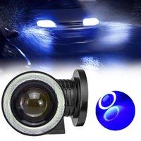 """Reflektory samochodu Suhu 3.5 """"COB LED 12 V Light Halo Blue Angel Eye Pierścień Żarówki Energetyczne oszczędzanie reflektorów Kąt reflektorów"""