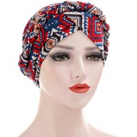 Tie Dye Turbans Fandbands Donne Knot Braid Hijab Cap Inner Caps IndessectCarf Bonnet 2021 Fashion Streetwear African Femmina Wread Wraps