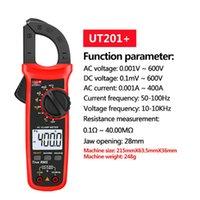 Freeshipping UNI-T UT201 + / UT202 + / UT203 + / UT204 + / UT202A + 400-600A 디지털 클램프 미터 자동 범위 TRUE RMS 고정밀 멀티 미터