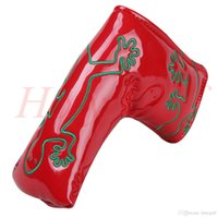 2017 Factory Customized logo Embroidery gecko pink red golf putter headcover golf headcover free ship wholesale sale club GOLF covers