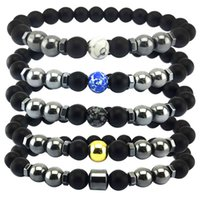 Braccialetto magnetico del braccialetto del braccialetto del braccialetto dell'ingrosso dell'ingrosso dei monili fatti a mano del braccialetto del braccialetto del braccialetto, stringa della mano del turchese bianco, perline fatto a mano