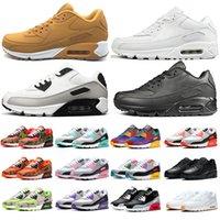 Nike air max 90 Cushion Casual Running Shoes para hombres mujeres Barato Triple Negro Blanco Rojo Amarillo Hombres Mujeres Zapatillas de deporte Classic Trainer zapatos deportivos