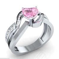 Anéis de casamento Design de noivado de cristal na moda para mulheres zircon cúbico elegante feminino jewerly cocktail ring