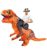 التميمة أزياء بيع الكبار هالوين ازياء تفجير ديناصور t-rex نفخ ازياء حزب دور لعب التميمة disfraz for manascot