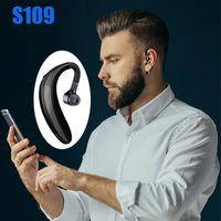 S109 TWS 무선 5.0 블루투스 이어폰 핸즈프리 Earloop 헤드셋 Finess 실행 드라이브 호출 스포츠 헤드폰 마이크