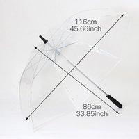 Yiwumart LED Lumière transparente transparente oncle pour le cadeau environnemental brillant brillera-parapluies brillantes Activité de parti longue manche parapluie Y200324 70 S2