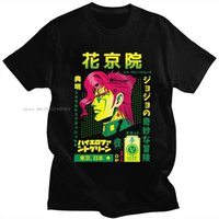 Moda JOJO Tuhaf Macera Erkekler T Shirt O Boyun Kısa Kollu Noriaki Kakyoin Japonya Anime Manga Grafik Tee Pamuk Tops