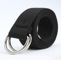 Belts Casual Unisex Canvas Fabric Belt Strap D Ring Buckle Webbing Waist Band Jeans 5 Colors Cinturones Hombre