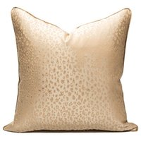Cushion Decorative Pillow LAN JINGZE Gold Leopard Cushion Cover Modern Simple Decorative Pillowcase Home Decor 30x50cm 45x45cm 50x50cm
