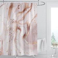 Rideau de douche de douche en marbre 180cm Tissu en polyester étanche Décoration de salle de bain 3D Rideau de salle de bain imprimée DHE4834