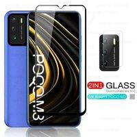 For Poco M 3 Glass Camera Lens Protective Cover for Xiaomi Pocophone Poco M3 Screen protect Tempad Glass Film