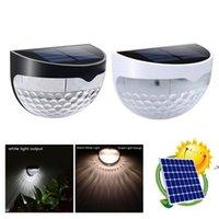 Solar Clôture Lampe 6led Semi-circulaire Plate-forme extérieure Étapes de la cour étanche de plein air Jardin Paysage Plage de la clôture IP55 HWD9480