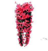 NEWFAUX FLORAL FASHION FLOOD FLOOK FLOOD FLOOK FLOOK FLOOK FLOWER ORDING Panier Fleur Orchid Silk Couronnes Vigne Mariage Party Street Light EWD6537