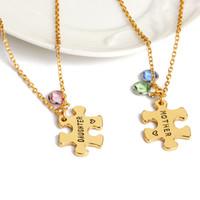 Mama und Tochter Anhänger Halskette für Frauen Kristall Halskette Frau Modeschmuck Frauen Muttertag Geschenk Kette Halskette Schmuck