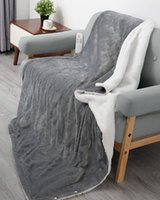 """Electric Blanket Heated Throw 50"""" x 60"""" with 6 Heating Levels & 5 Auto-Off Timing Settings, Home Use & Machine Washable"""