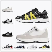 [With Box] Best 20SS LOGO printed suede B25 shoes B24 Obliquo Sneaker Sneaker uomo Piattaforma Scarpe Designer Black White Suede in pelle Scarpe da ginnastica in pelle scamosciata