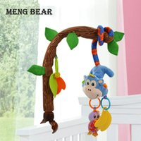 Meng Bear Bambino Rattles Giocattoli Mobileili Bendibile Culla infantile Appeso Letto giocattolo Bell Bell Musica + Teaters Documento Ruscole per 0-12 mesi Baby Y0126