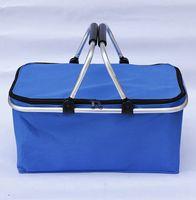 Wiederverwendbare isolierte Kühler-Lunch-Tasche Wandern Strand-Lunchbox Organizer Aufbewahrung Travel-Korb Warenkorb Warenkorb Bag Box KKA8339