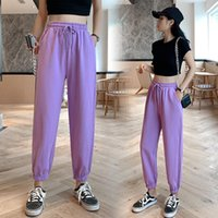 Women's Pants & Capris HED Candy Color Orange Pink Gray Sports Female Street Leisure BF Harajuku Harem S-XL 2021 Summer Women Sweatpants