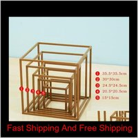 Wedding Prop Flower Stand Arch Road Lead Decor Artificial Flower Wrought Metal Iron Square Block Wedding Birt Bbymvg Ppzrz Lo4Rx