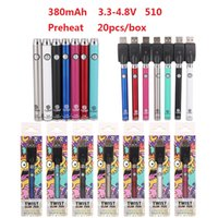 Popular ECT COSO 3.3-4.8V variable voltage 510 thread auto safety shut off vape pen battery kit charger included